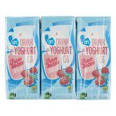 Albert Heijn Yoghurt drink raspberry 6-pack