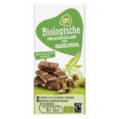 Albert Heijn Biologische melkchocolade reep met hazelnoot