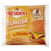 President Hamburger gourmand au cheddar (voor uw eigen risico)