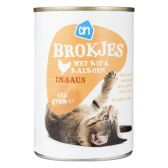 Albert Heijn Brokjes kip-kalkoen voor de kat (alleen beschikbaar binnen Europa)