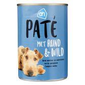Albert Heijn Pate rundvlees-wild voor de hond (alleen beschikbaar binnen Europa)