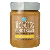 Albert Heijn 100% Pindakaas met stukjes pinda klein