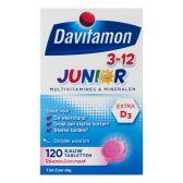 Davitamon Junior raspberry multivitamines (from 3 to 12 years)