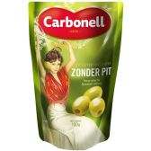 Carbonell Green olives without seeds small