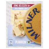 Milner Jong belegen 30+ kaas minder zout plakken