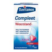Davitamon Complete resistance strawberry chewing vitamines