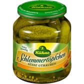 Kuhne Sweet pickles with honey