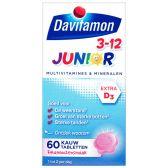Davitamon Junior 3+ framboos kauwvitamines
