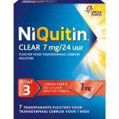 Niquitin Clear plasters 7 mg against smoking