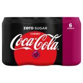 Coca Cola Sugar free cherry 6-pack