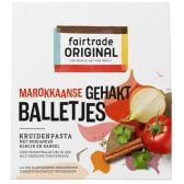 Fair Trade Original Marokkaanse gehaktballetjes pasta