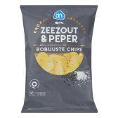 Albert Heijn Robuuste chips met zeezout en peper