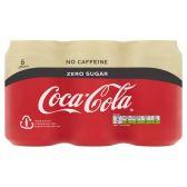 Coca Cola Cafeinevrij en suikervrij 6-pack