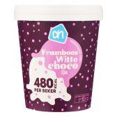 Albert Heijn Framboos witte choco ijs (alleen beschikbaar binnen Europa)