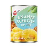 Albert Heijn Basic ananasschijven op siroop