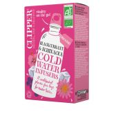 Clipper Organic blackcurrant infusion tea cold water