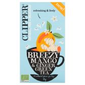 Clipper Organic mango and ginger tea breezy