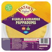 Patak's Pappadums with garlic and coriander