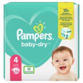 Pampers Baby dry maat 4 luiers carry pack