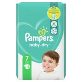 Pampers Baby dry size 7 diapers