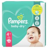 Pampers Baby dry size 4+ diapers carry pack