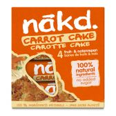 Nakd Carrot cake fruit bar with nuts