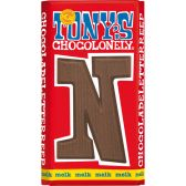 Tony's Chocolonely milk chocolate letter N