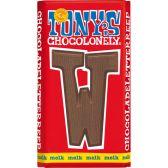 Tony's Chocolonely milk chocolate letter W