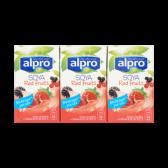 Alpro Sojadrink rode vruchten 3-pack