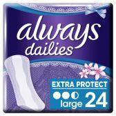Always Dailies extra protect large fresh inlegkruisjes