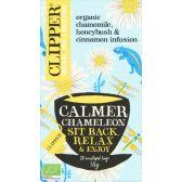 Clipper Organic chamomile, honeybush and cinnamon infusion tea calmer chameleon