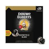 Douwe Egberts Ristretto 12 black coffee caps