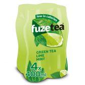 Fuze Tea Groene thee niet bruisend limoen minze pet
