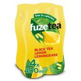Fuze Tea Zwarte thee niet bruisend citroengras pet