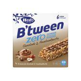 Hero Between zero chocolate and hazelnut grain bar