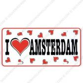 Kentekenplaat I Love Amsterdam hartjes