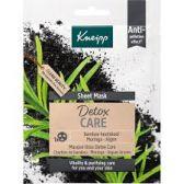 Kneipp Sheet masker detox verzorging