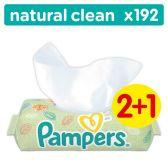 Pampers Babydoekjes baby natural clean zonder parfum 3-pack