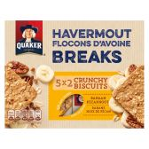 Quaker Havermout breaks banaan pecannoot crunchy biscuits