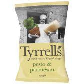 Tyrrells Hand-cooked English crisps pesto & parmesan