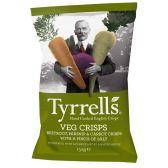 Tyrrells Hand-cooked English crisps veg crisps beetroot, parsnip & carrot crisps with sea salt