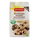 Zonnatura Krokante muesli pure chocolade